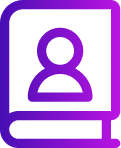 Phone icon with purple to violet overlay