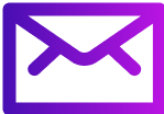 Email icon with purple to violet overlay
